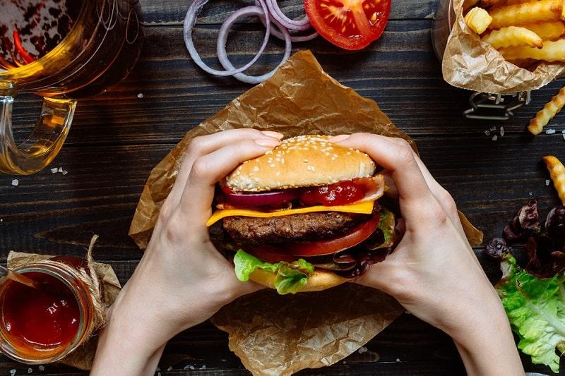 Beefburger and Hamburger. Name Etymology