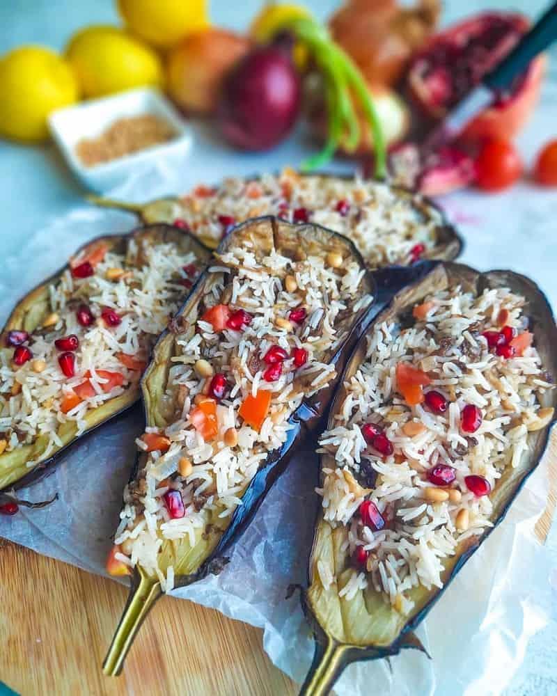 Eggplant bun