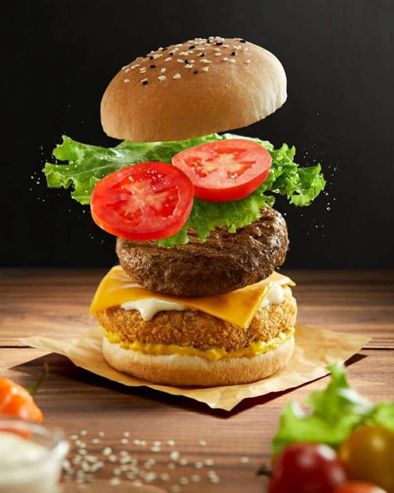 How To Stack A Burger. Ingredients Step By Step
