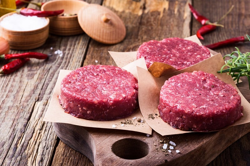 Shop only for fresh-ground meat